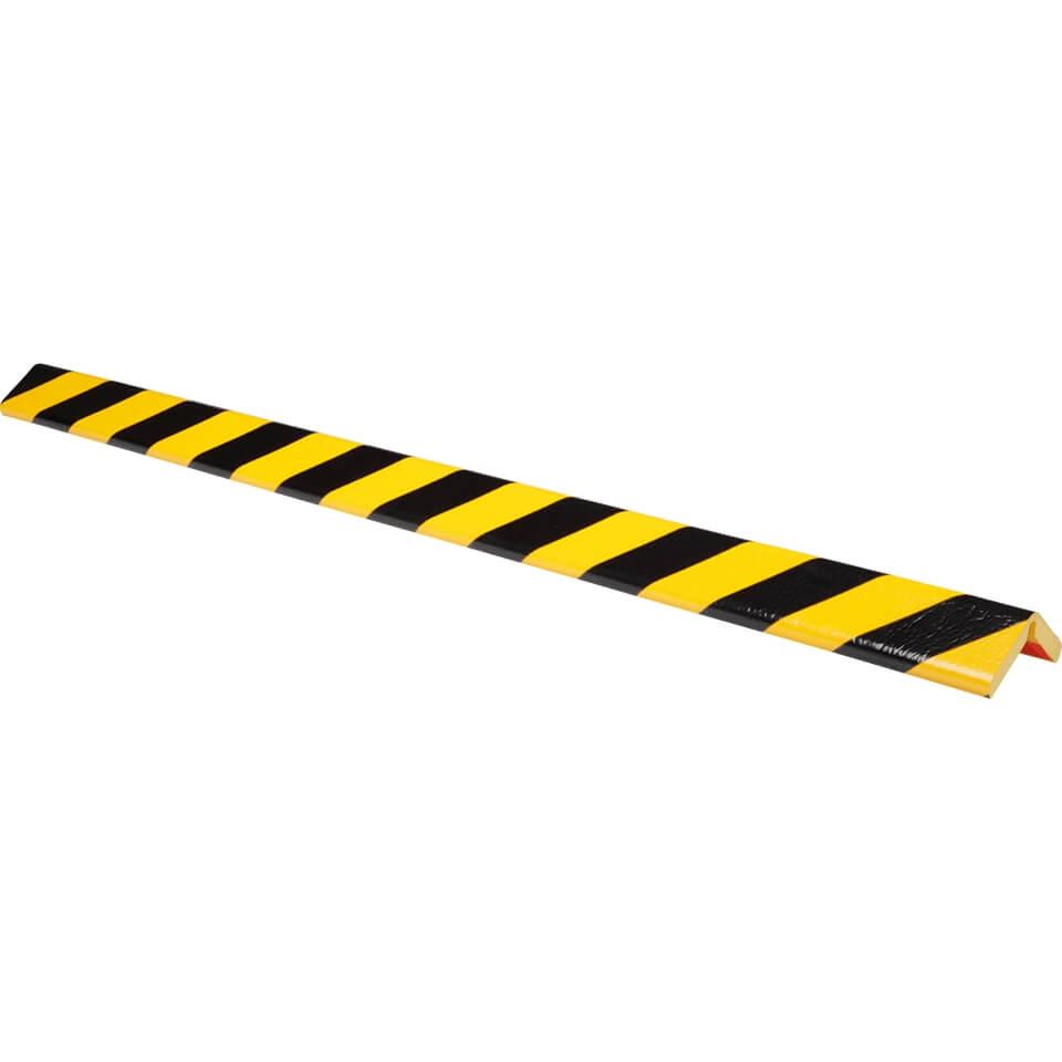 knuffi flex eckschutzprofil typ h+, selbstklebend, gelb/schwarz, 1 m