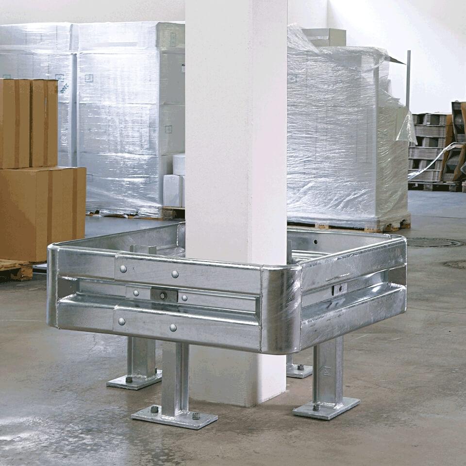 50173a24e31a20 Sparset, 2 x Säulenschutz-Set, feuerverzinkter Stahl, für Säulen bis 70 x  70 cm