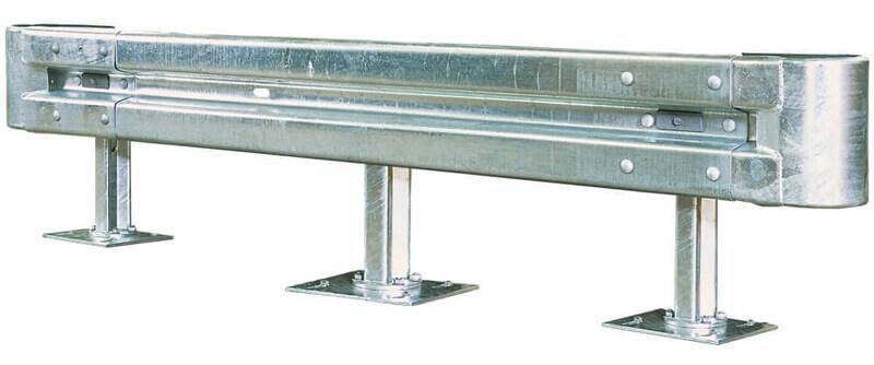 Schutzplanken Komplett-Set 4 Meter Länge